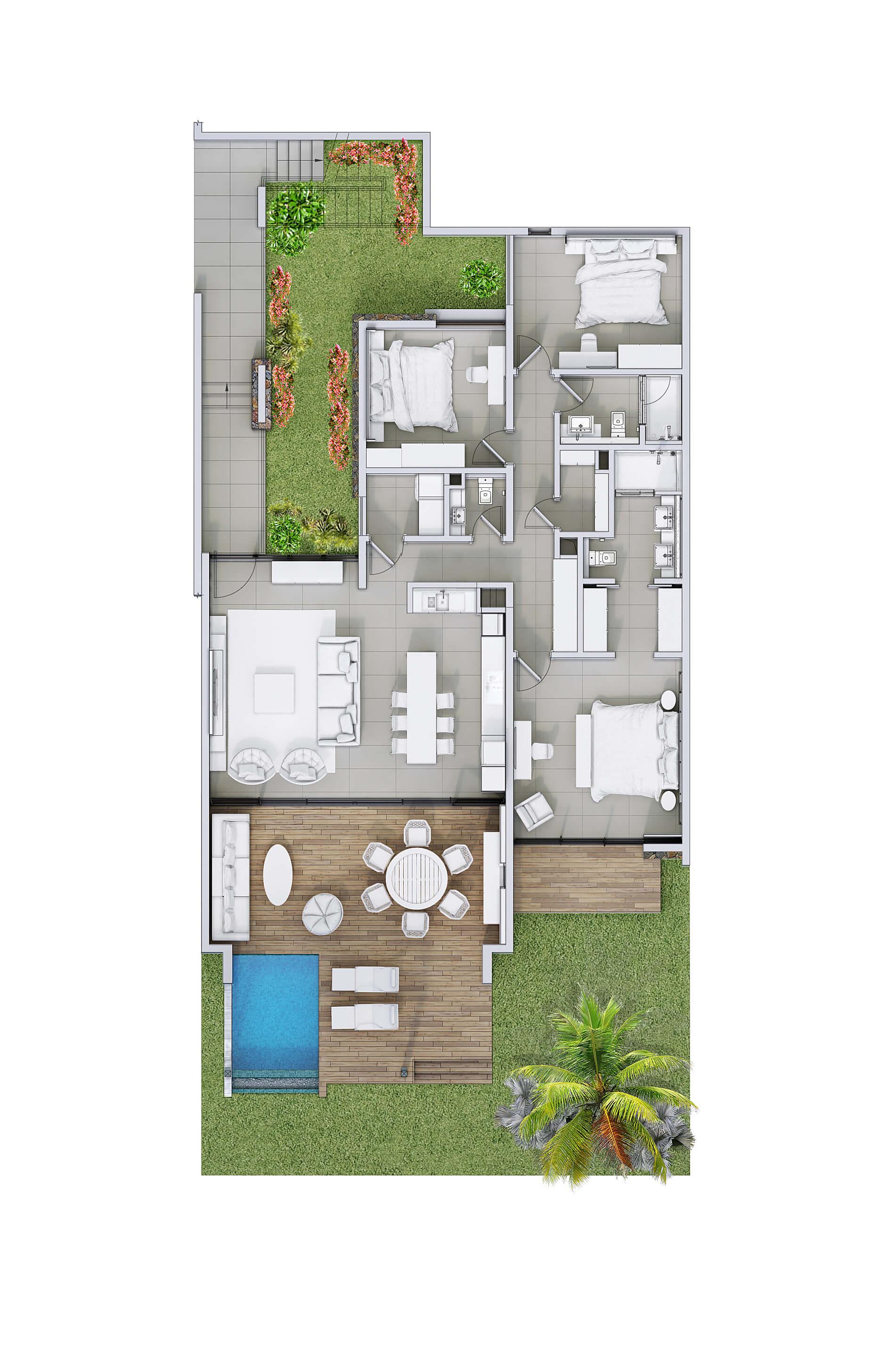 Découvrez nos appartements Rez-de-jardin | Anbalaba : Vivre Maurice