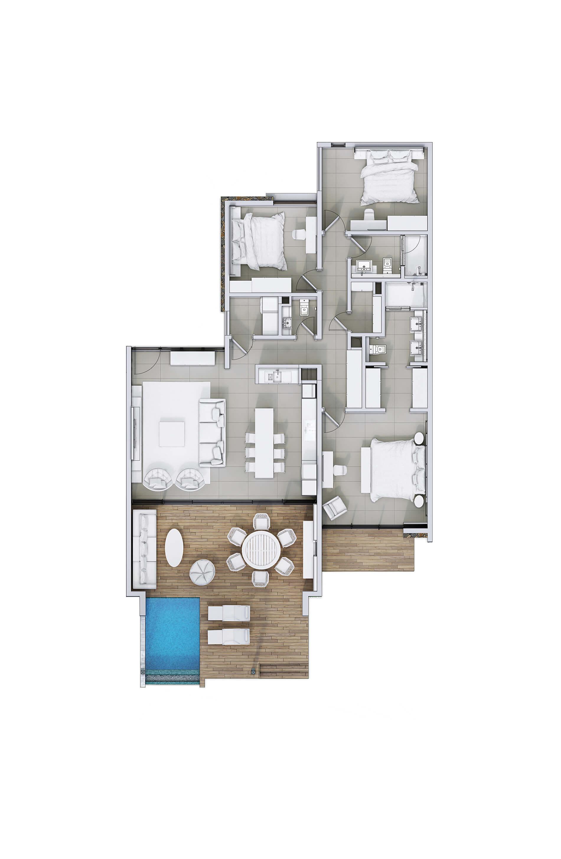 d couvrez nos appartements rez de jardin anbalaba vivre maurice. Black Bedroom Furniture Sets. Home Design Ideas