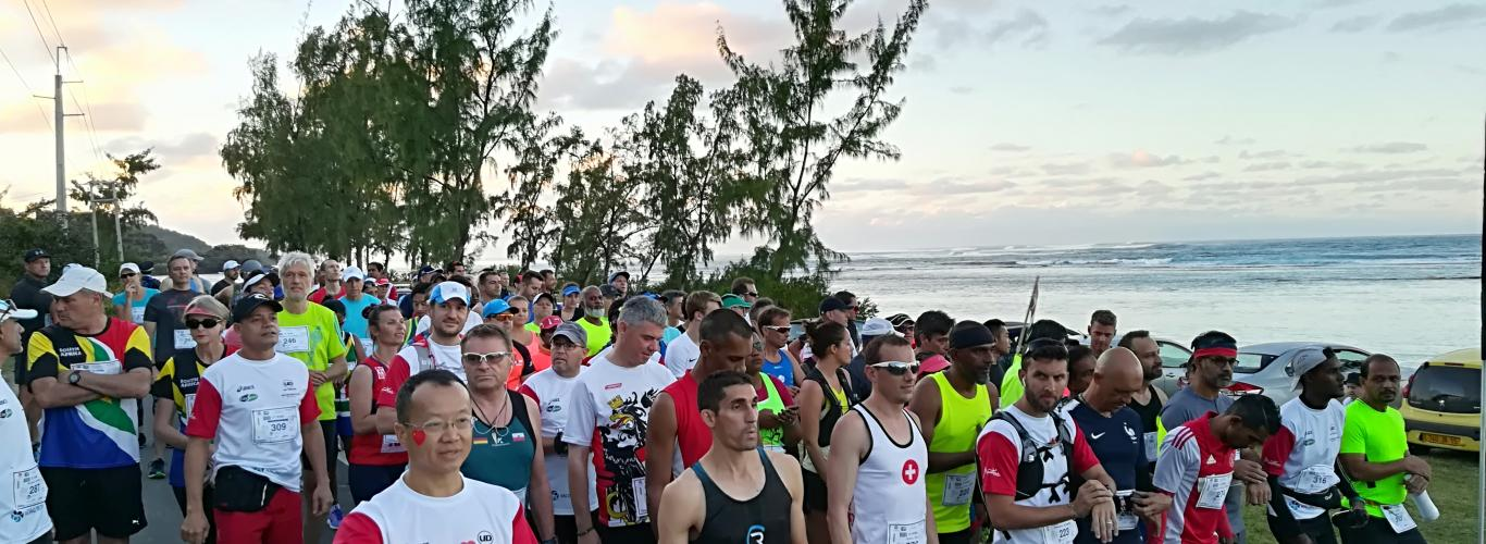 The Mauritius Marathon makes its way past Anbalaba at Baie du Cap